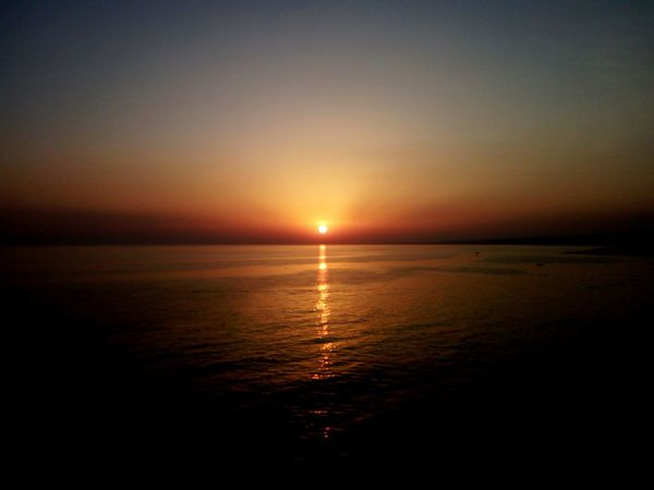 Sunset Sea Scenics Water Reflection Horizon Over Water Tranquil Scene Nature Dramatic Sky Tranquility Travel Destinations Idyllic Sun Beauty In Nature Sky Landscape Vacations Outdoors Cava D'aliga Scicli