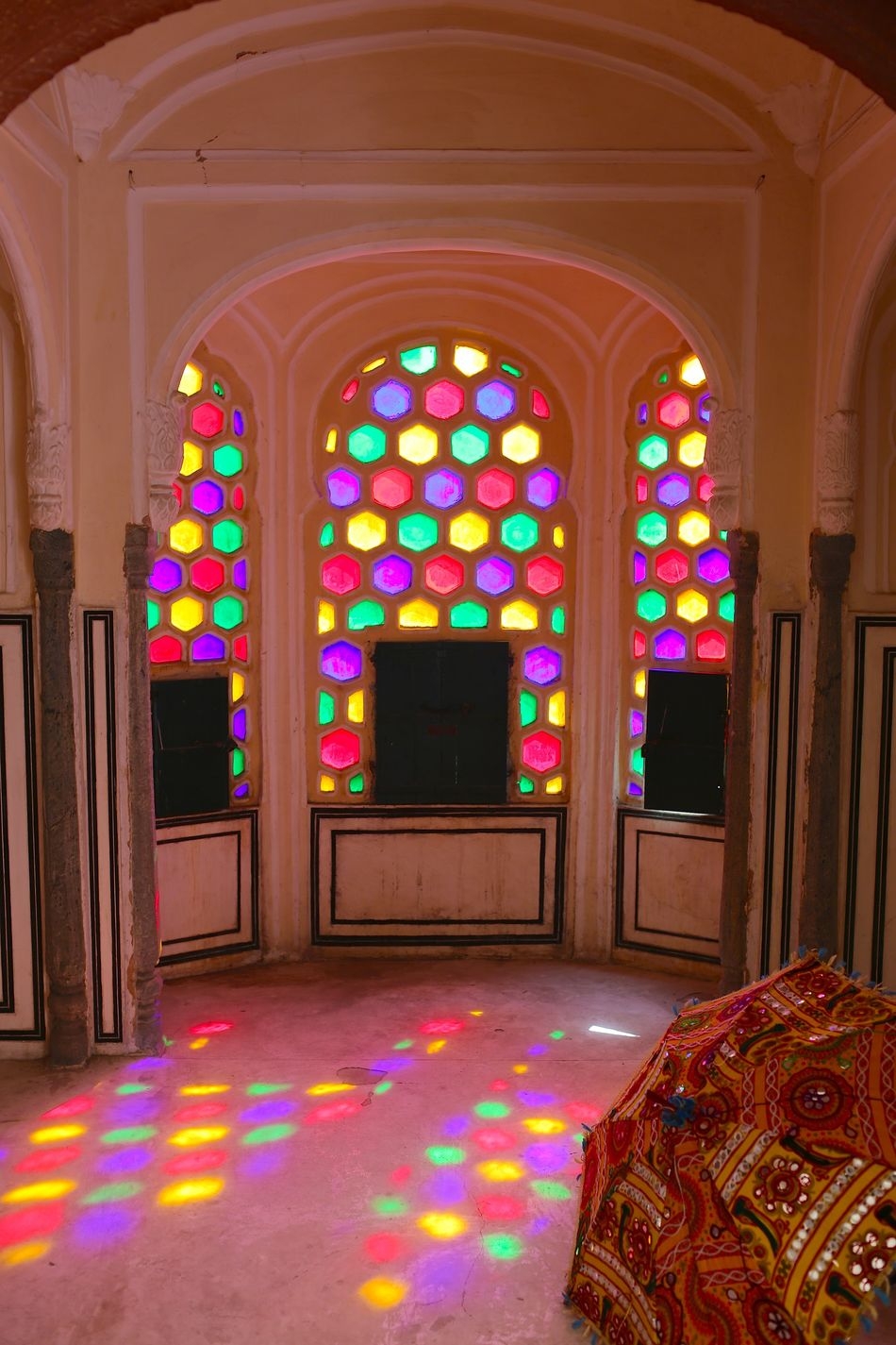 Arch Architecture Day Illuminated Indoors  Millennial Pink Multi Colored No People Shadows & Lights Stained Glass Travel Destinations Travel Photography