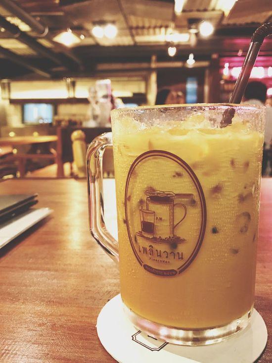 ข้างแรม ชาเย็น Thai Iced Tea With Milk ชาไทยเย็น