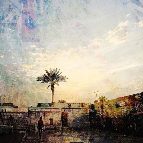 Dohatoday Doha Qatar Effect Painting Skyline Pray Friday Sky Clouds Rain Rains Design Photography App New Style Mode Instamood Lovely Colorful Creative Zizome Fresh Cool boomerange aljazeera rains rain dark night