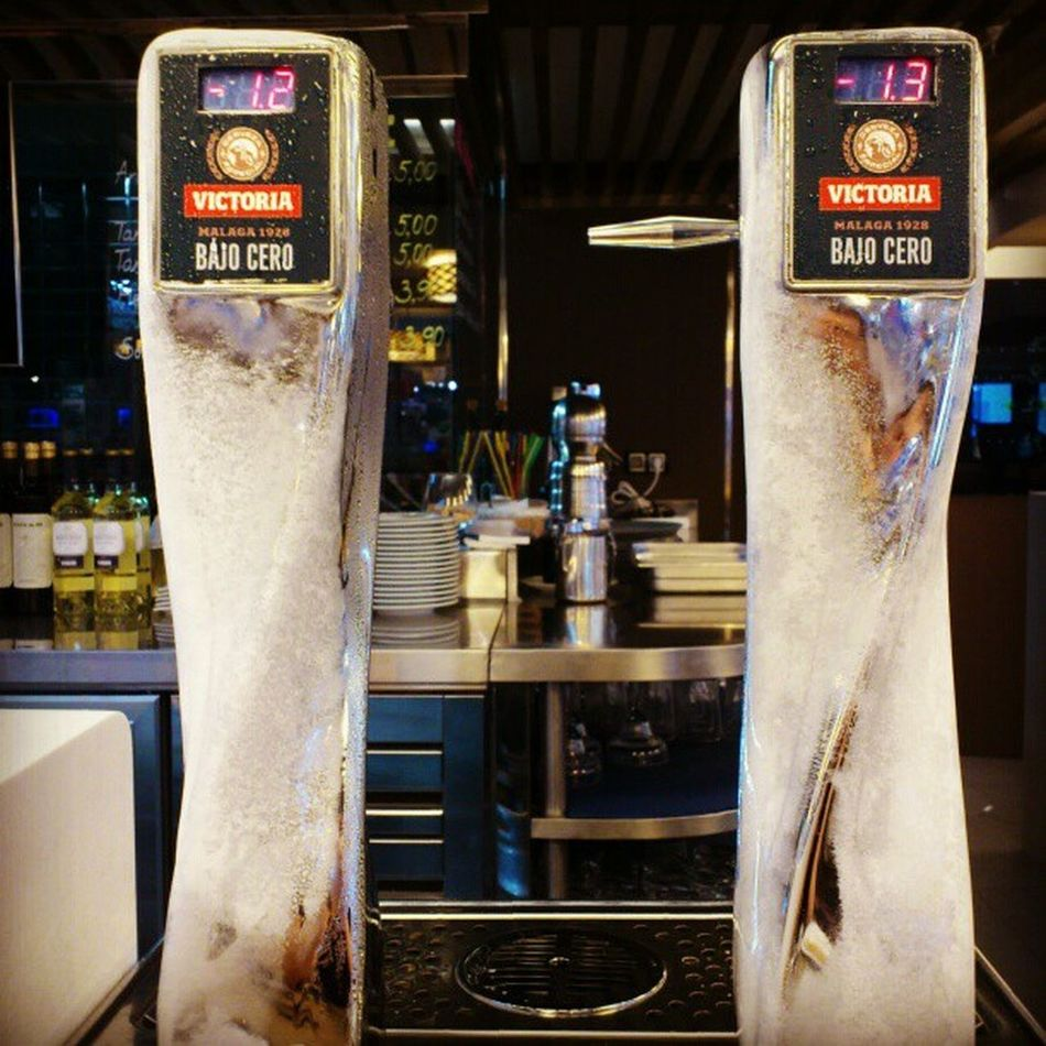 Ice Build Up on the Beer dispenser at el_Corte_ingles cafeteria marbella spain