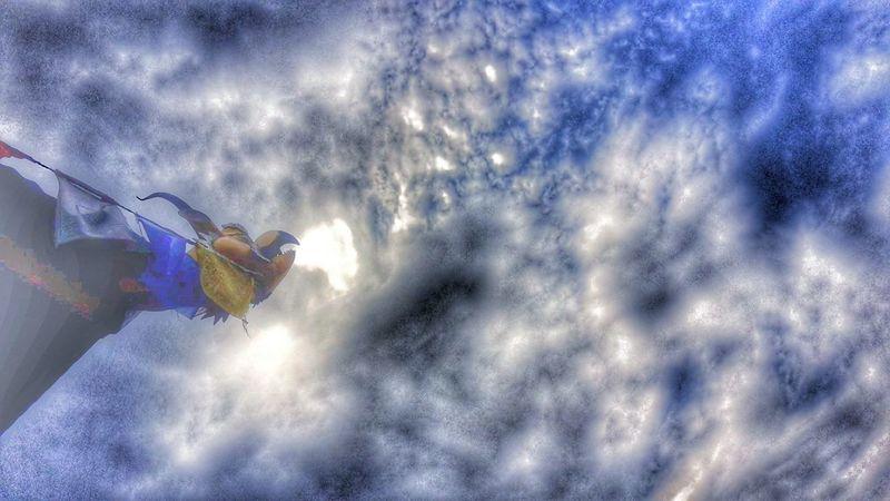 Sky Sky And Clouds Bhutan Bhutanese Architecture