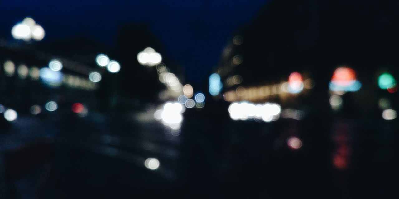 Night Illuminated Defocused City Outdoors One Person Architecture Building Exterior Close-up People Only Men