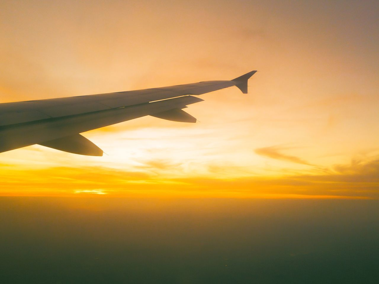 Airplane Transportation Journey Sunset Sky Flying Travel Aircraft Wing Airplane Wing Aeroplane Nature No People Plane Beauty In Nature Cloud - Sky Aircraft Mode Of Transport Air Vehicle Outdoors Day
