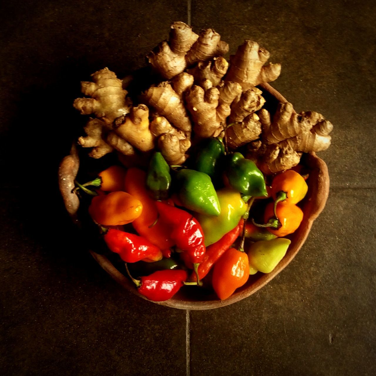Preparacion previa Healthy Eating Food And Drink Vegetable No People Food Studio Shot Close-up Multi Colored Red Bell Pepper Indoors  Freshness Directly Above Day Vegetables Ginger