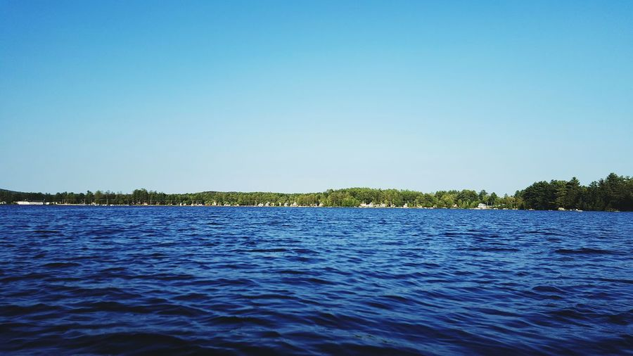 Caroga Lake New York Summer Nature Water Blue Sky