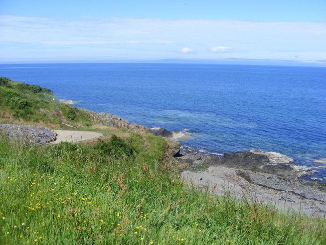 Ayrshire Beauty In Nature Blue Sea Blue Skty Coastline Grass Horizon Over Water Idyllic Nature Rocks Scenics Scotland Sea Sky Tranquil Scene Tranquility Water