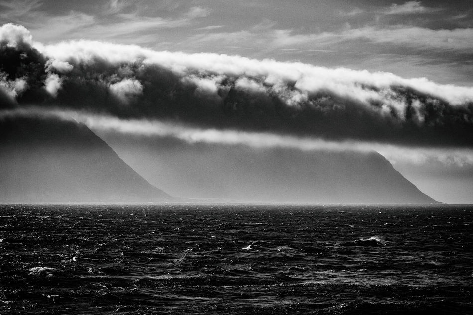 Beauty In Nature Blackandwhite Close-up Cloud - Sky Clouds Coast Day Dramatic Sky EyeEm Best Shots EyeEm Nature Lover Horizon Over Water Landscape Monochrome Nature No People Nordkapp Norway Outdoors Scenics Sea Sea And Sky Sky Tadaa Community Tranquility Water