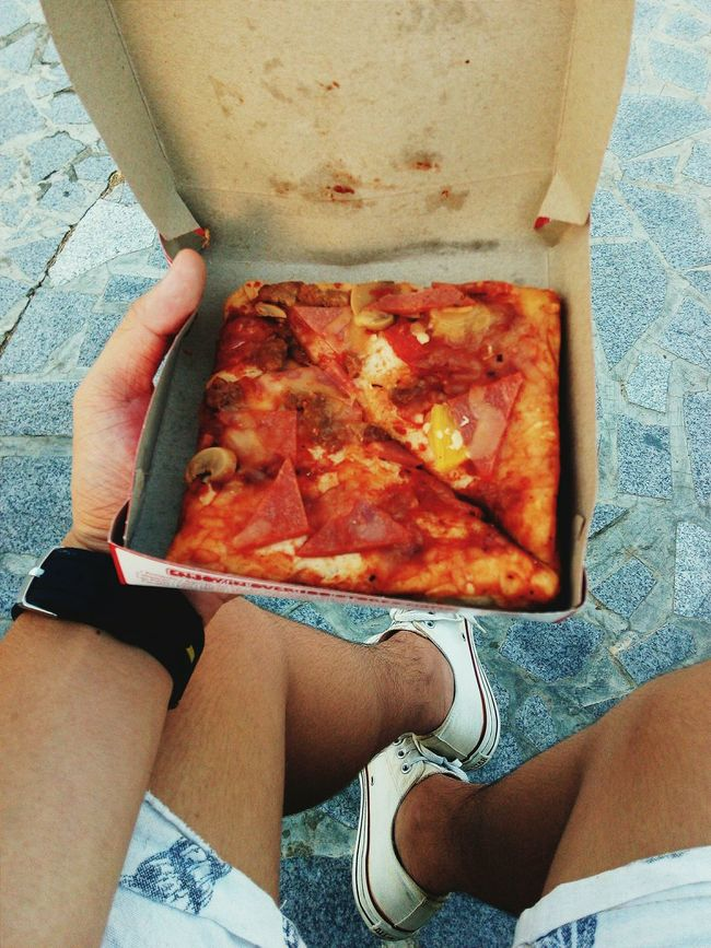 Comfy Shoes 👟 + Pizza 🍕 = ⛅ Street Food Worldwide Pizza Pizza Time Pizzalover Converse El Shaddai Fun Philippines Pizza For Life Pizza <3