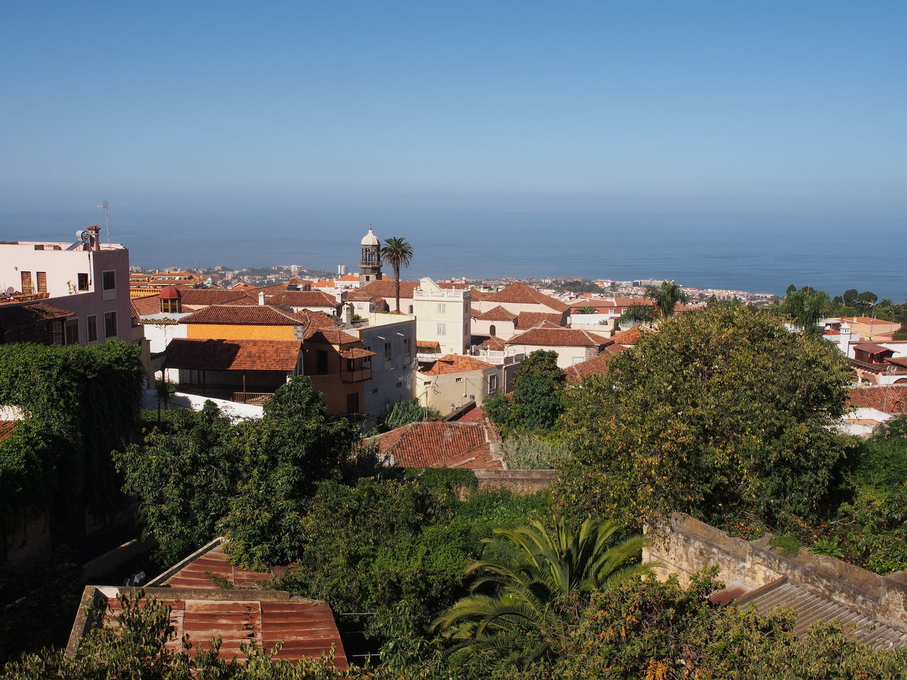 Architecture Atlantic Ocean Canary Islands Clear Sky La Orotava No People Outdoors Sea SPAIN Tenerife Town View