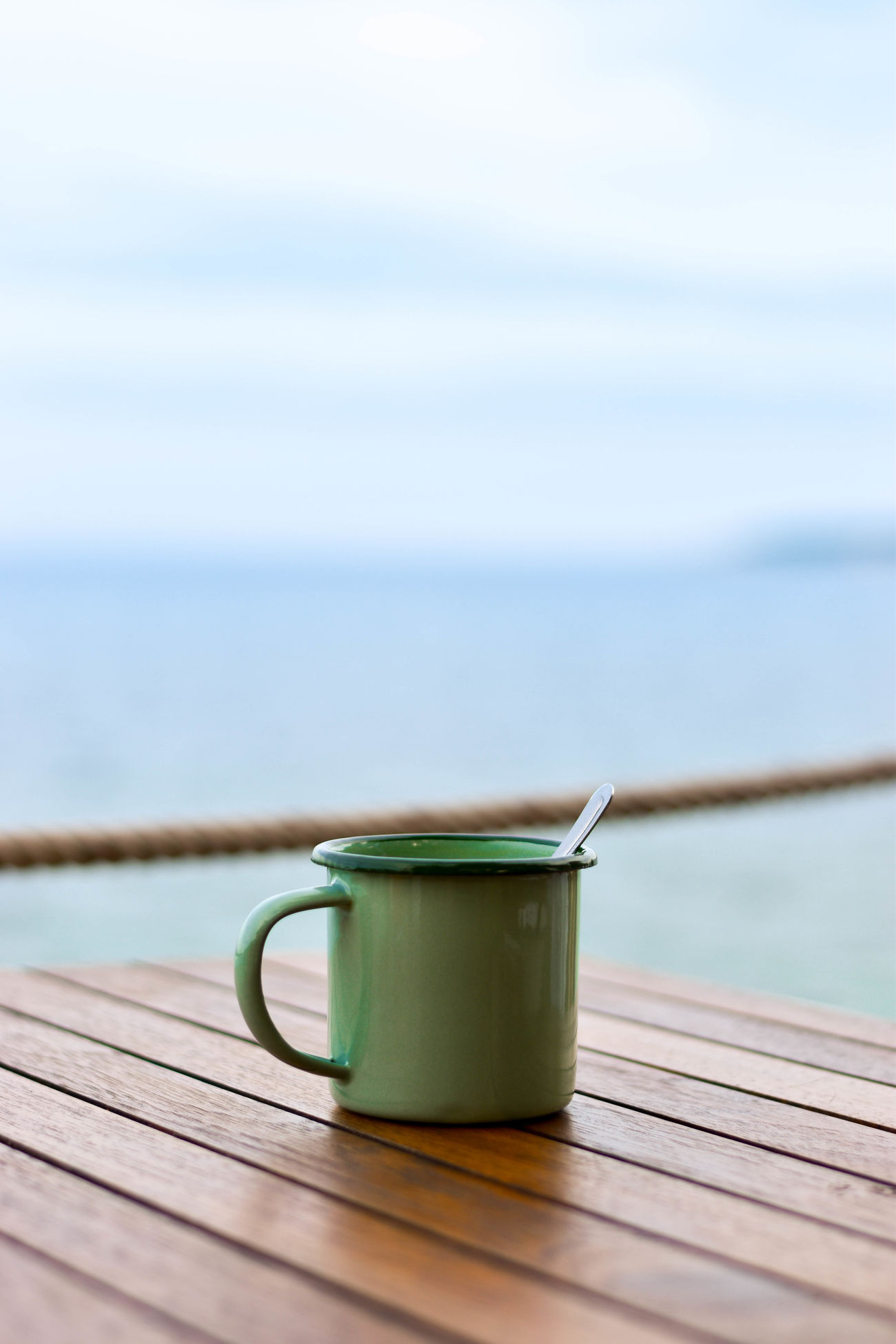 Close-up Coffee Break Coffee Time Cultures Day Drink Food And Drink Freshness Horizon Over Water Nature No People Outdoors Refreshment Sea Sky Table Tea - Hot Drink Tea Ceremony Water Wood - Material