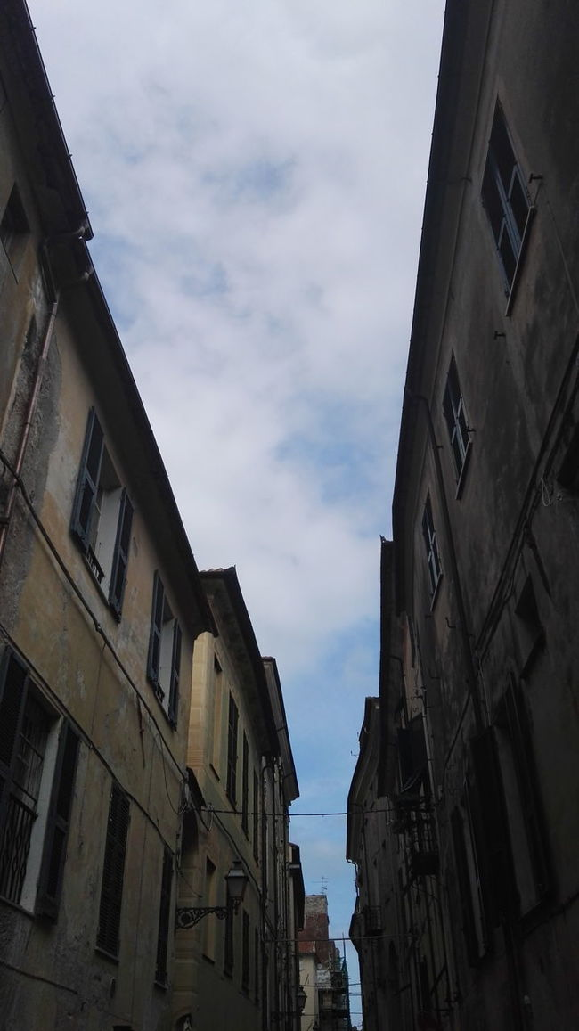 Albenga Apartment Architecture Building Building Exterior Built Structure City City Life Cloud Cloud - Sky Cloudy Day House Low Angle View No People Outdoors Residential Building Residential District Residential Structure Sky Window