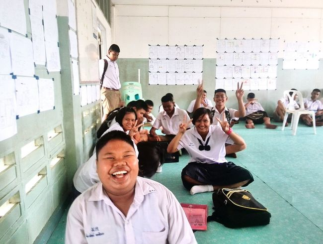 The Color Of School Sometimes class is just a bunch of laughs. Especially with this crowd hahaha. Thailand Tefl English Teacher Smiles Laughs Laughing Out Loud Laughter Peace ✌
