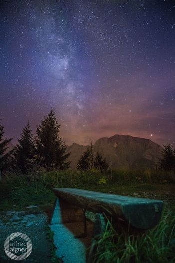 Star - Space Night Galaxy Astronomy Tranquility No People Mountain Sky Nature Milky Way Beauty In Nature Landscape Scenics Outdoors Tree Constellation Water