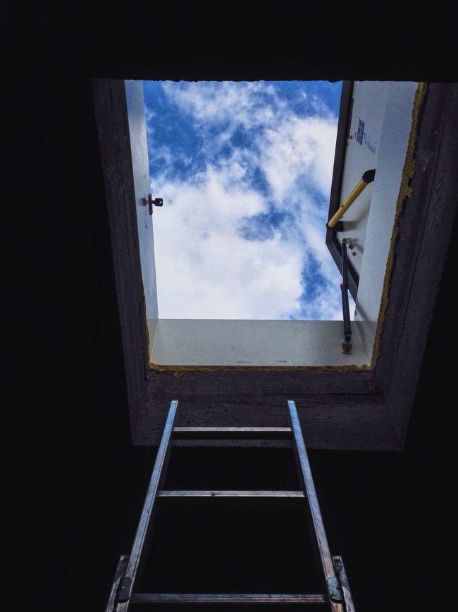 TakeoverContrast Indoors  Sky Cloud Blue Dark Cloud - Sky Ladder