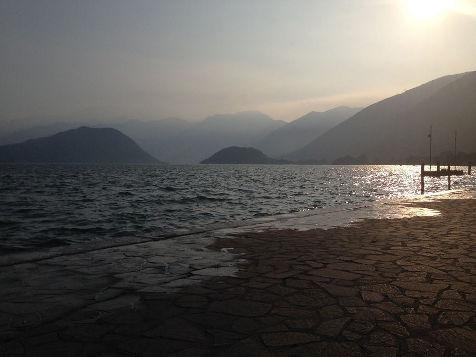 Early Morning Sunrise Relax Fresh Wind Nature Water Tranquility Outdoors Summer Iseo Iseo Lake