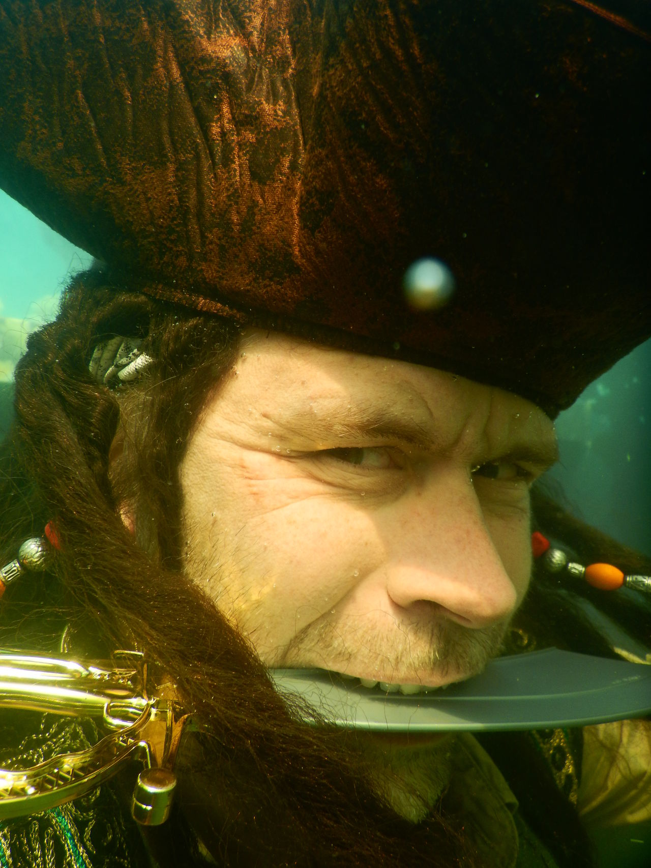 Beautiful stock photos of pirate,  40-44 Years,  Actor,  Brown,  Carrying In Mouth
