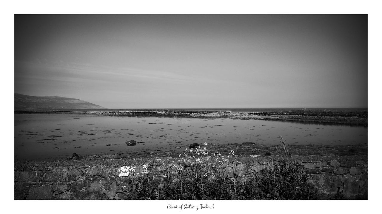 Coast of Galway, Ireland Auto Post Production Filter Beauty In Nature Black And White Day Galway Horizon Over Water Ireland Irish Ladnscape Landscape Lenovo Moto MoTo G4 Moto G4 Plus Nature No People Outdoors Panorama Scenics Sea Sky Smartphone Smartphonephotography Tranquil Scene Tranquility Water