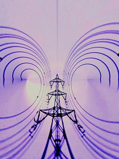 Art A Pylon A Steel Tower An Electric Wire
