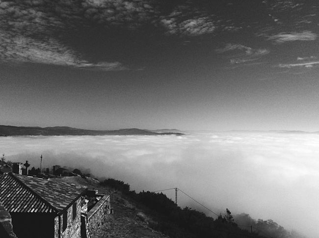 Built Structure Architecture Sky Cloud - Sky Cloud Mountain Scenics Cityscape Tranquil Scene Tranquility Beauty In Nature Nature Blackandwhite Black And White SPAIN