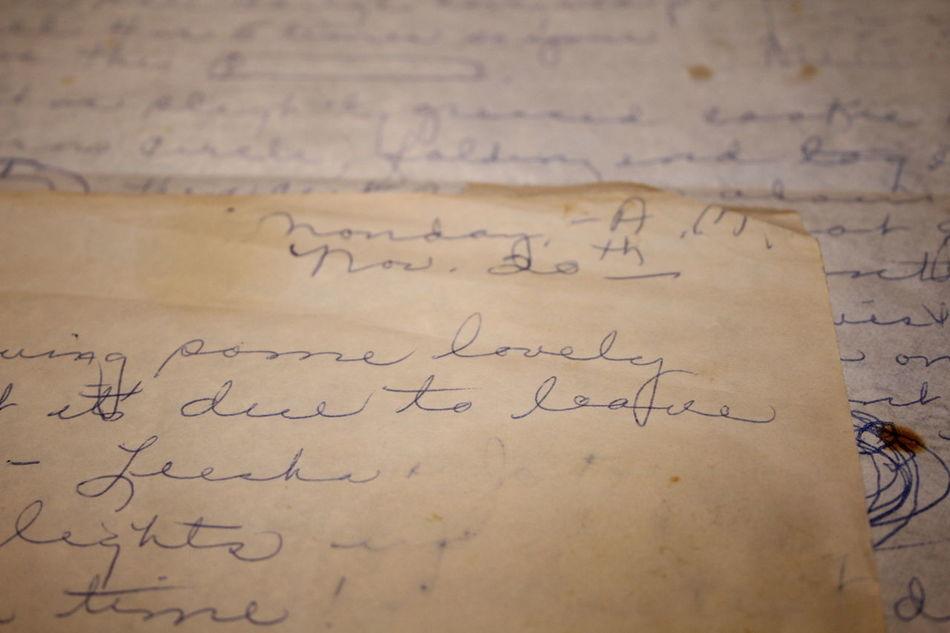 1989 Cursive Cursive Writing Day Grandma Grandmother Letter Old Paper Recipe Worn
