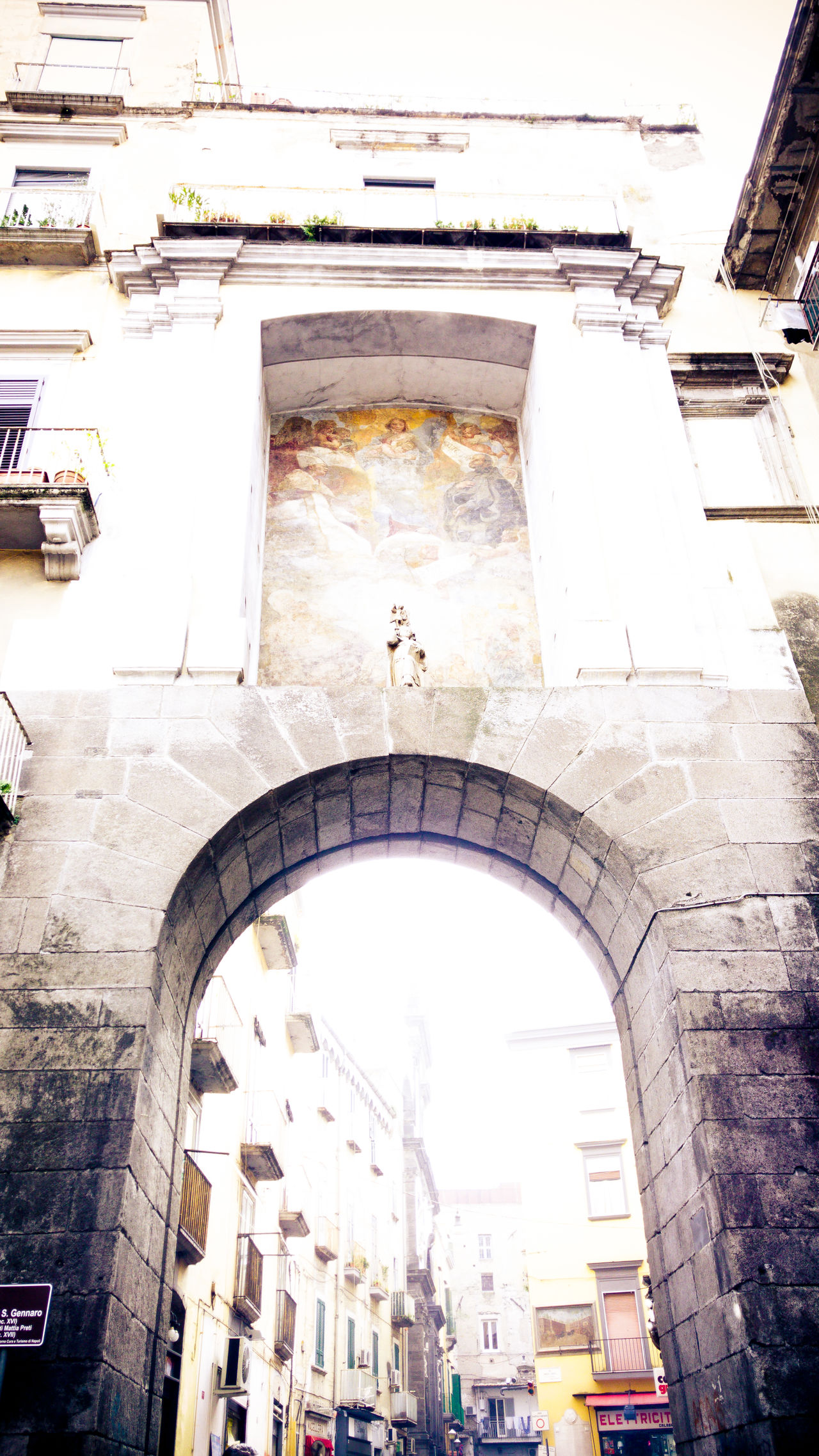 Porta San Gennaro in Napoli, Italy Architecture Building Exterior Built Structure Day Low Angle View Naples, Italy Napoli No People Outdoors Porta San Gennaro