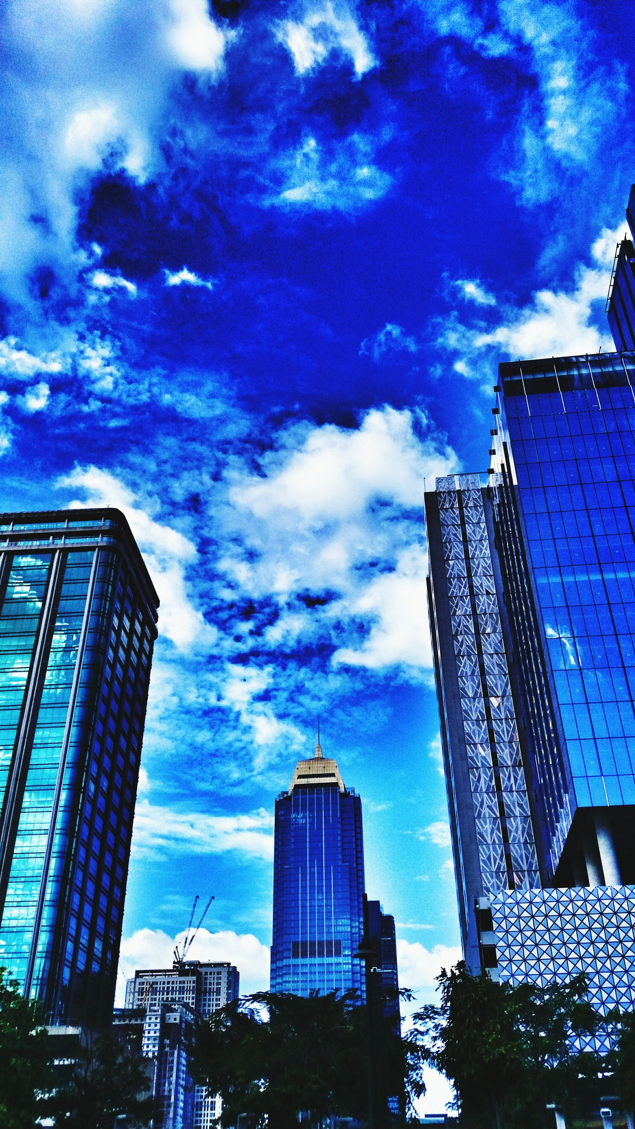 Skyscraper City Architecture Building Exterior Sky Cloud - Sky Built Structure Low Angle View Modern Tower Growth Outdoors No People City Life Development Cityscape Financial District  Urban Skyline Day Nature