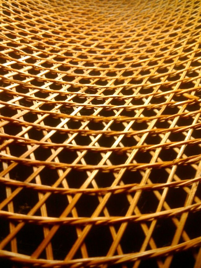 Abstract Pattern Woven Pattern Woven Bamboo Geometric Abstraction Elliptical