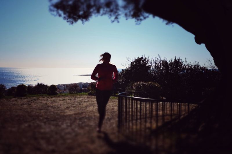 Colors Color Tiltshift Sea Sea And Sky Sea View Woman Silhouette Light And Shadow Shadow Shadows & Lights Light Running Run Runners Sport Sports Photography Nature Naturelovers Movement Move X100t