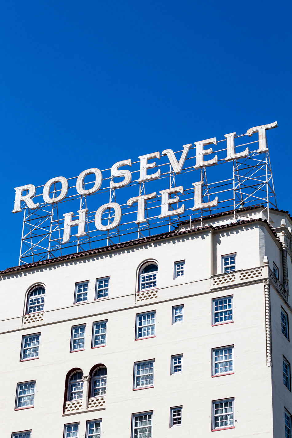 The Roosevelt Hotel in Los Angeles. Architecture Blue California City City Life City Of Angels Clear Sky Famous Hotel Famous Place Hollywood Hotel Los Angeles, California Los Ángeles Losangeles No People Roosevelt Hotel, Los Angeles Travel Photo Travel Photographer Travel Photography Travel Photos West Coast