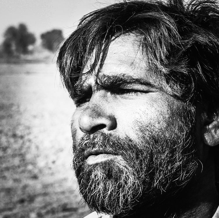 Real People Close-up Beard One Person Portrait Men Day Outdoors Only Men People Adult Farmer's Life Morningworld Agriculture Searching For Inspiration Poor People  Indian Village Life Searching For Food