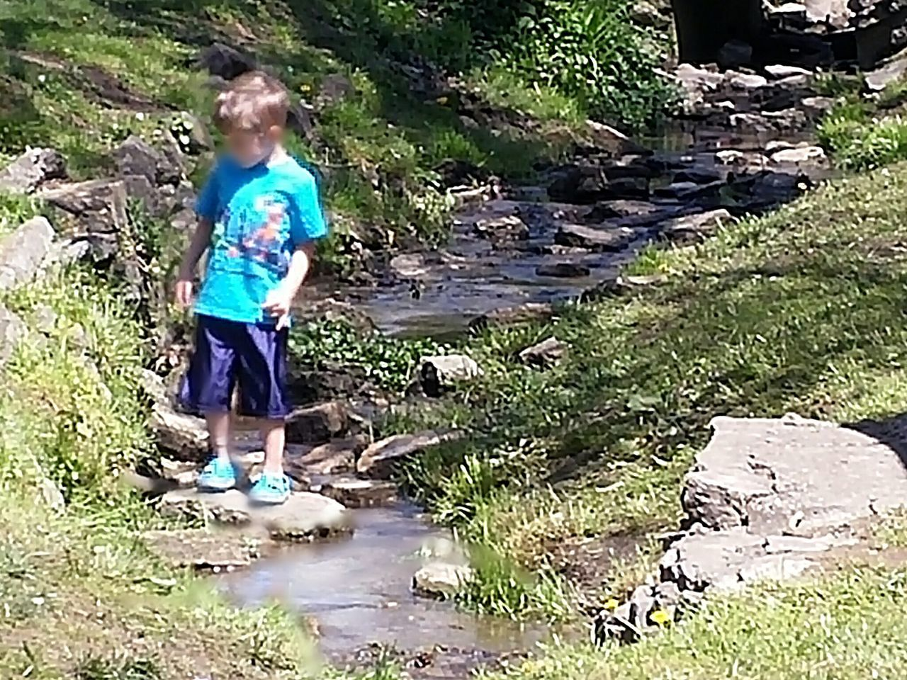 Fresh On Eyeem  Creek Boy Playing Playing In The Creek Play Child Stream Rocks Outdoors Playing Outside