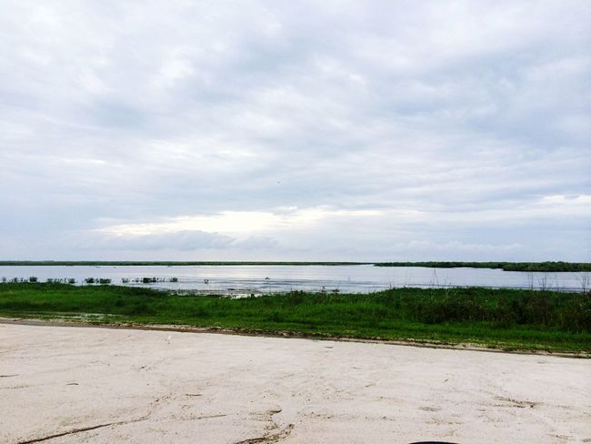 A lil place I go to escape and ease my mind.. Sky Morning Peace And Quiet Clouds And Sky Lake Okeechobee