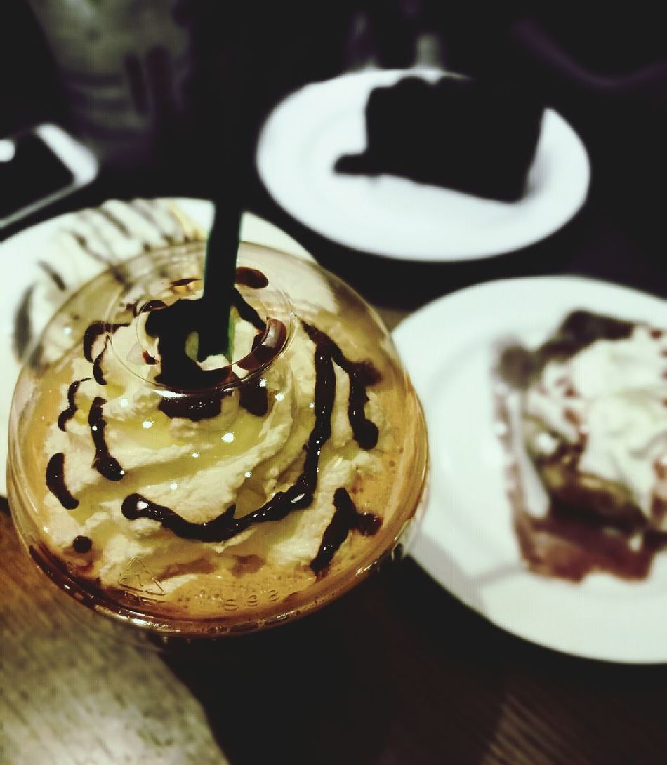 Watch out.. its a Frapp!!🚫 Its a Frapp!! 😜😛 Food And Drink Food Frappucino Dessert HuaweiP9 Huaweiphotography Starbucks Coffee Coffee Time