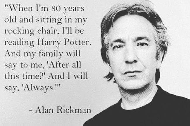 Rest In Peace ❤ Rip Alan Rickman Snape Harrypotter Actor Best  Always