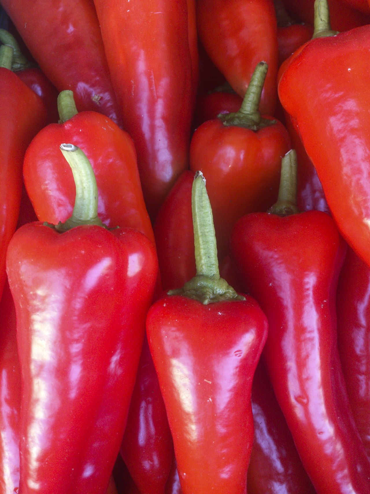 Fresh Mediterranean Red Peppers Bell Pepper Close-up Colour Coloured Colourful Display Food For Sale Freshness Freshness Greece Healthy Eating No People Outdoors Red Red Bell Pepper Vegetable Vertical Vibrant Color