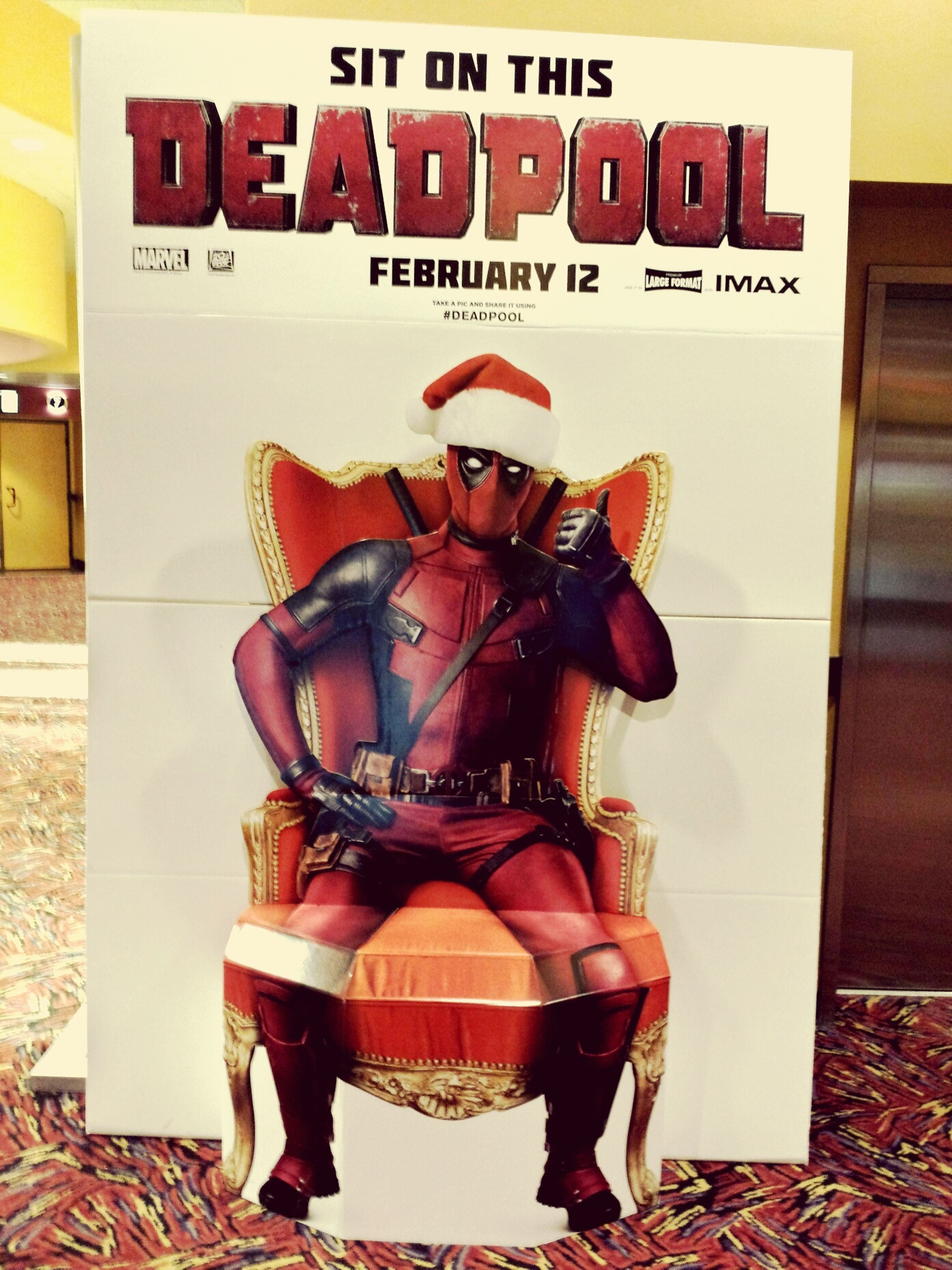 Wwwaaaaaiiiiiittt🙌.You may be wondering that why i am in Red suit.🙇. well..... so bad guys cant see me bleed. 🙆 Deadpoolmovie In Theatres IMAX 3D Best MARVEL Movie I Hve Ever Seen.