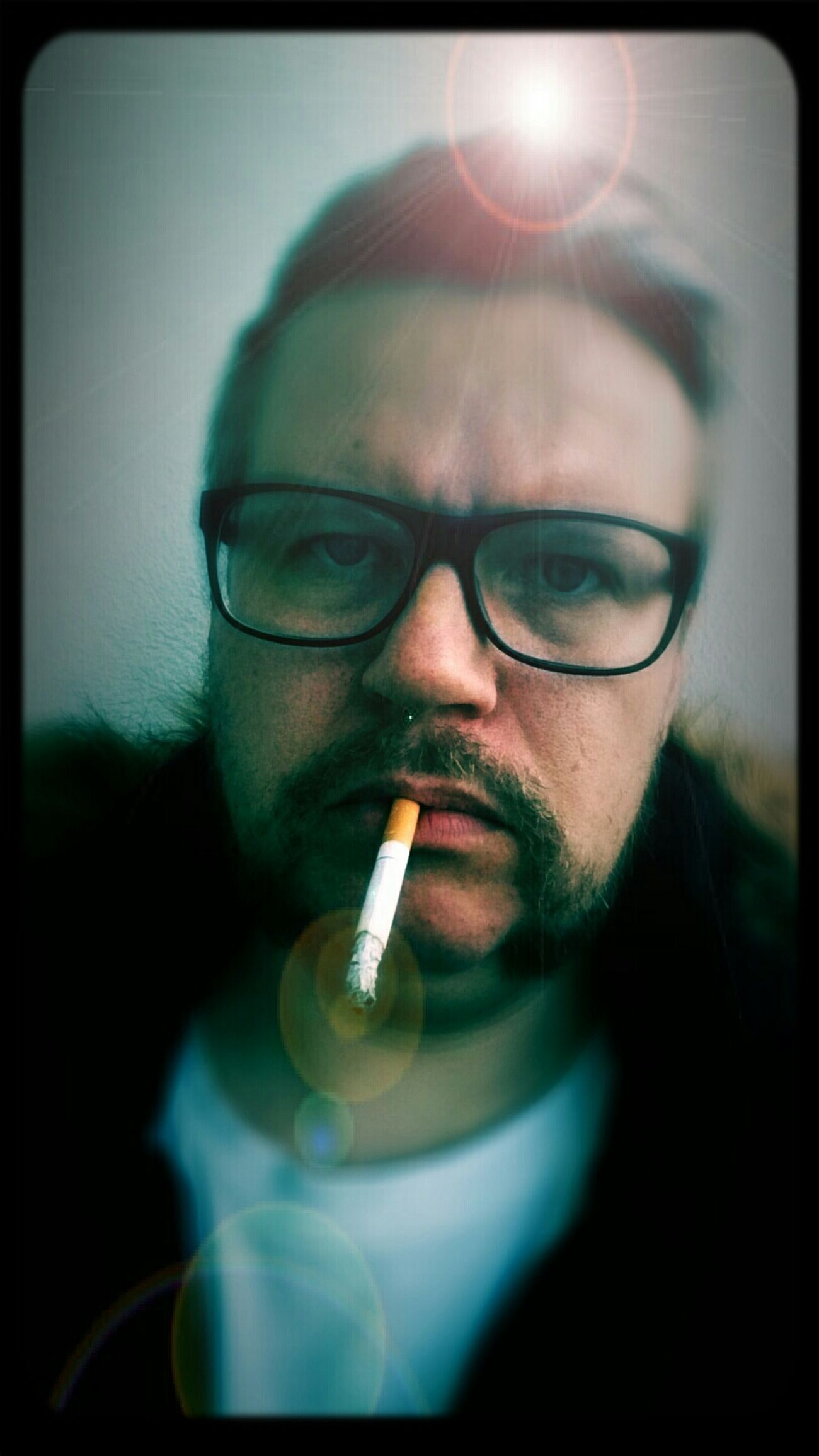 Selfie Smoking Trying To Be Cool Just For Fun
