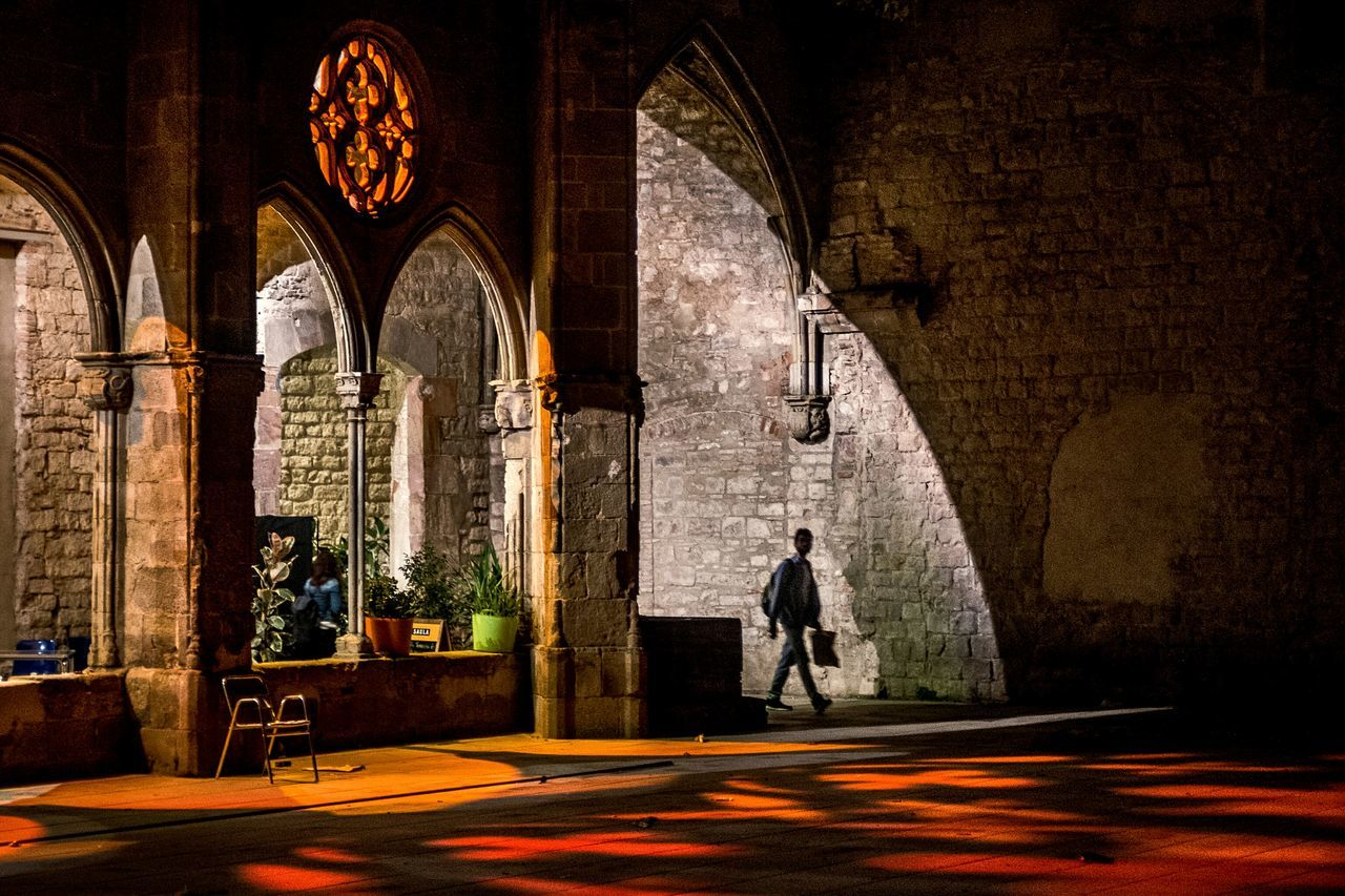 Architecture Built Structure Arch Night People Open Edit Red Pattern Color Street Photography Streetphoto_color Light And Shadow Backgrounds Fragments Of Life Things I See Textures And Surfaces Lines And Shapes Contemplation