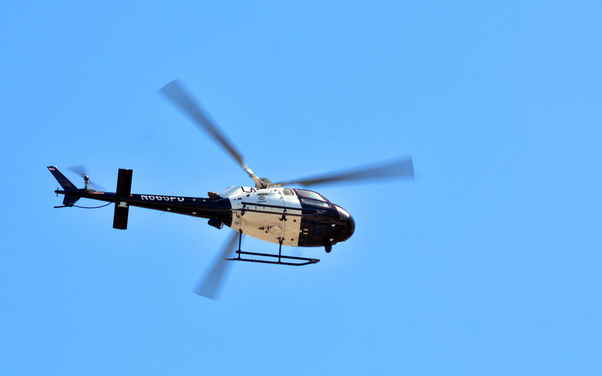 Alternative Energy Blue Day Environmental Conservation Ghettobirds Helicopter LAPD Los Angeles, California Low Angle View Nature No People Outdoors Police Rotorblade Sky