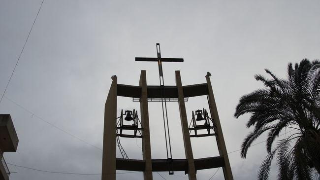 Beautiful Church Church Bells Maronite Church Steeple