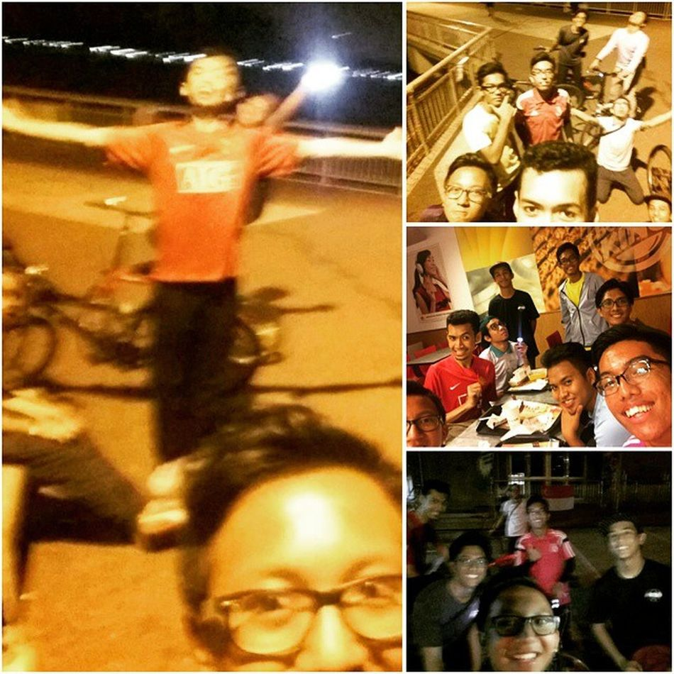 We did our 2nd recce from Al-Mawaddah mosque to ECP and ECp back to Sengkang. It was a great and tiring experience. We cycled around a total of 45km in 5hrs!! Alhamdulillah. Seriously i almost gave up.. Kekekekekekeke. So if you guys wanna experience da fun. Do join us. No worries brothers & sisters, bicycles will be provided during the event! 5th September '15 Al-Mawaddah to East Coast Parkonly 15-25 years old $10 per person / $40 for a group of 5 Registration closed on the 21st Aug! Hurry register NOW @www.tinyurl.com/afnightcycling Sempoi Sports FB Event Page :http://tinyurl.com/AFNCEventPage AFsempoisports Afnightcycling Cyclingsg Nightcycling