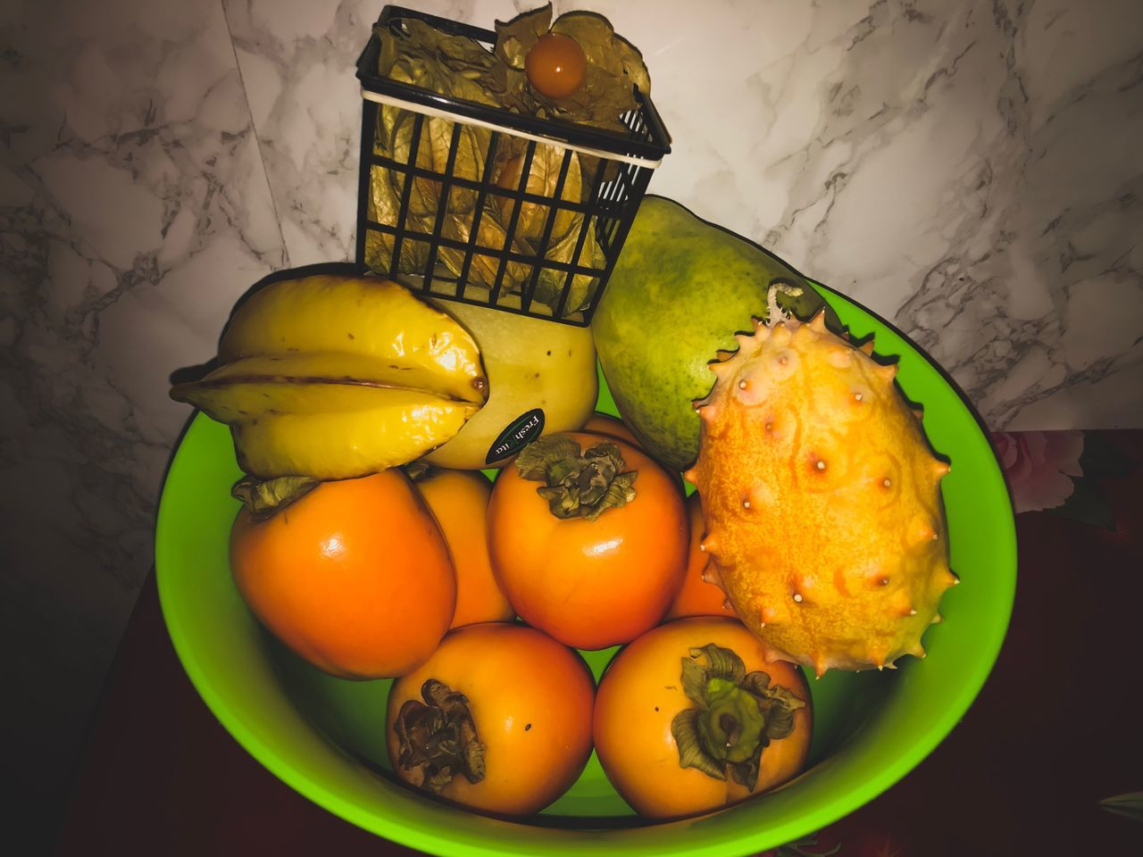 food and drink, fruit, healthy eating, food, freshness, basket, vegetable, high angle view, indoors, no people, close-up, day