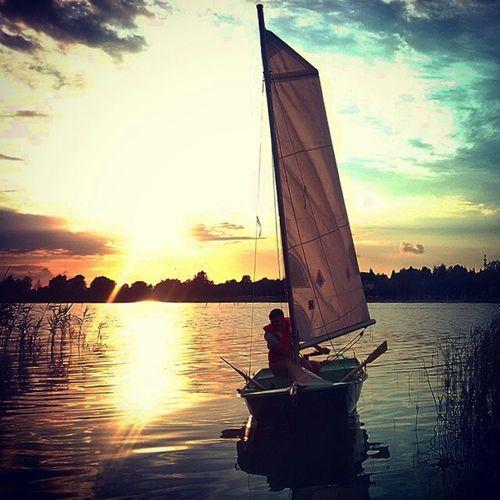 Sailing Sailboat Lake Polishlakes Jezioro_powidzkie Sunset