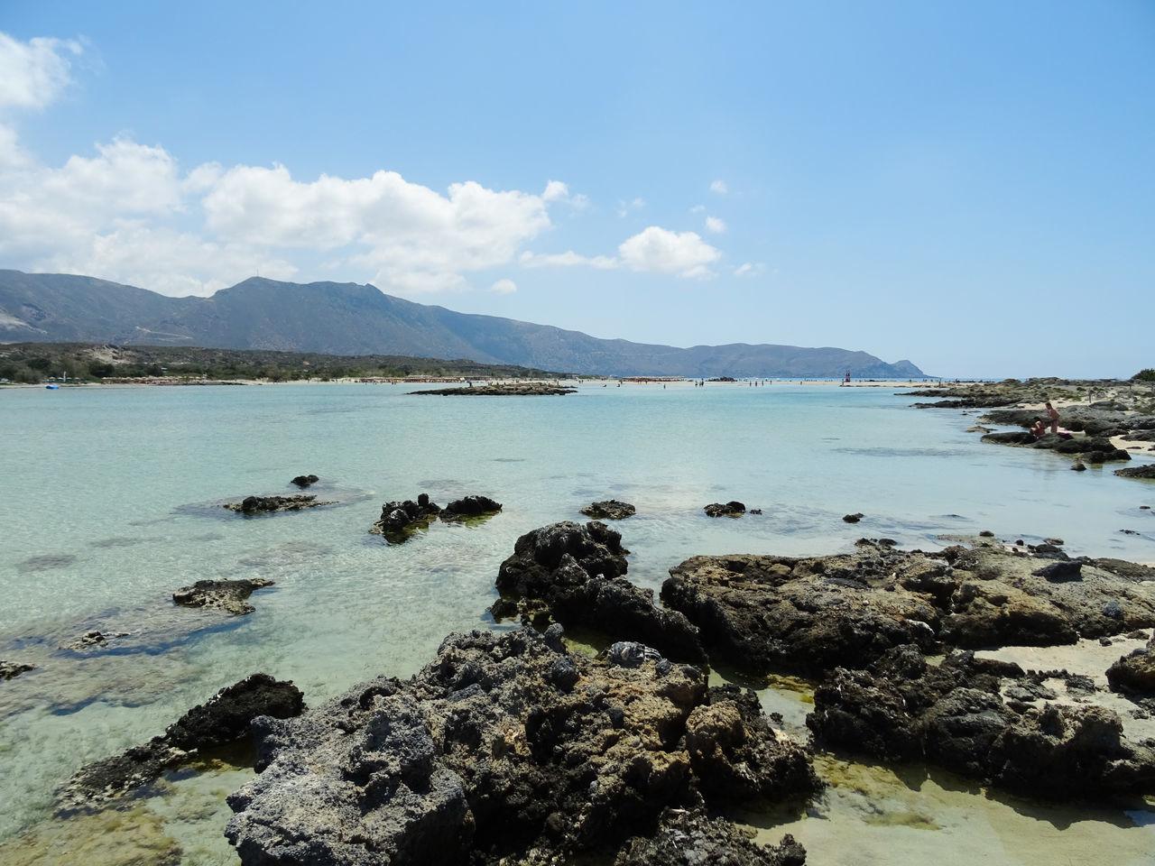 Beach Blue Crete Elafonisi Elafonisos Greece June 2016 Kreta Landscape Rock Sand Sea Travel Travel Destinations Water