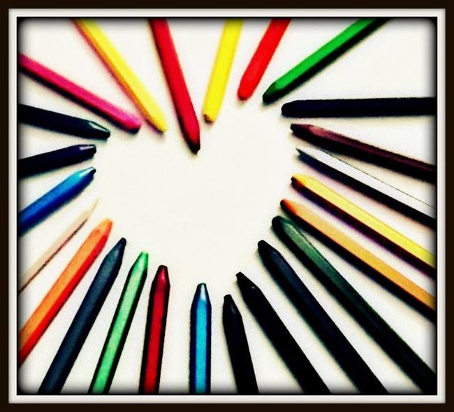 Mobile Photography Heart ❤ Colours Cryons Multi Colored Dil Pyaar Creative Begginer Photography