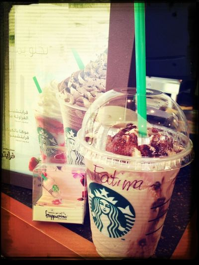 Chocolate Frapp time ,, refreshing ,, with a small Gift from my Dearest friend