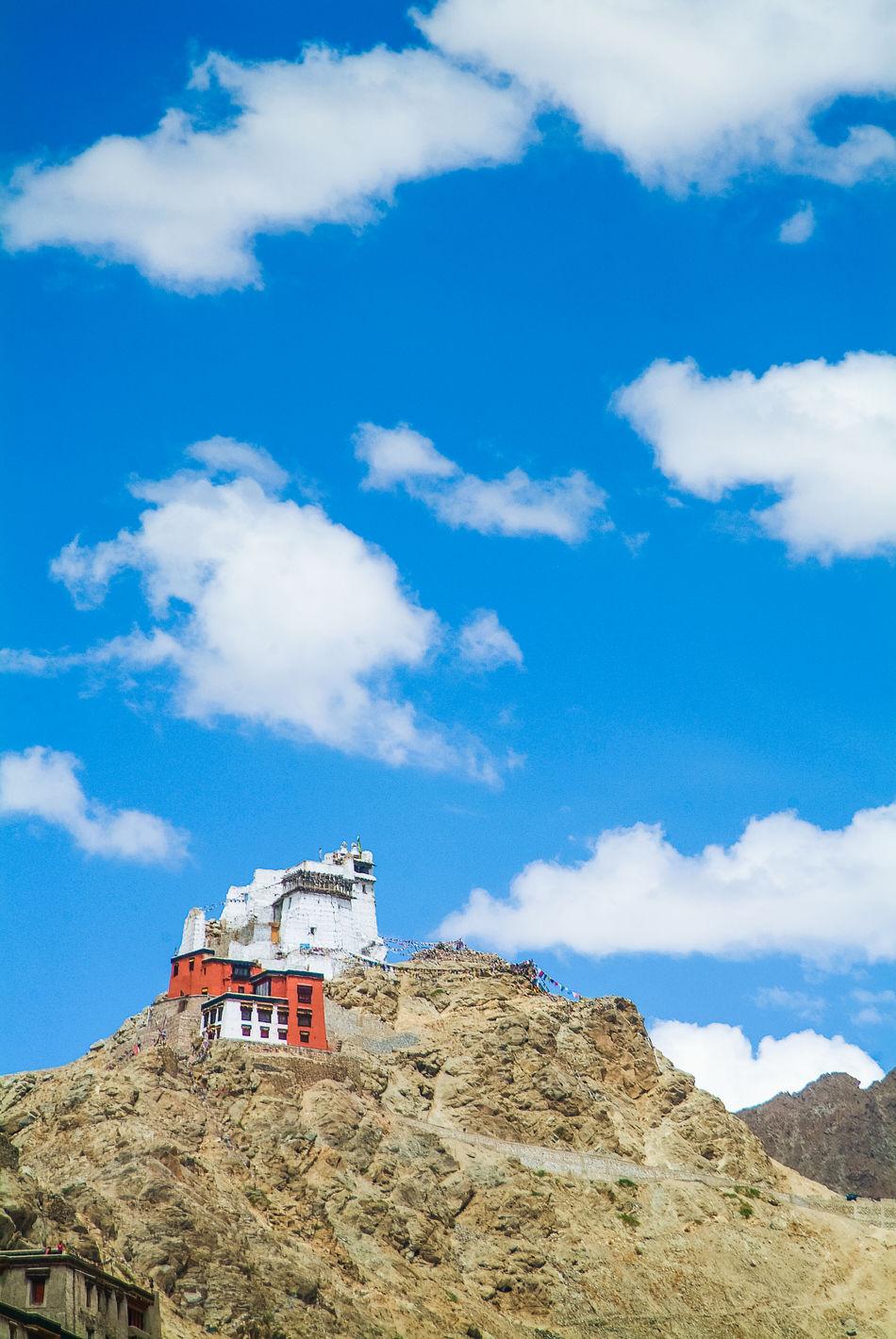 Tsemo Goenkhang, Leh Blue Cloud - Sky Fuji S3 Pro India Leh Leh Ladakh Mountain Nature Outdoors Sky Tsemo Goenkhang