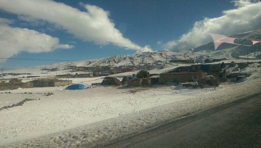Ararat  Blue Cloud - Sky Mountain Nature Outdoors Sky Snow ❄ Village Weather Winter