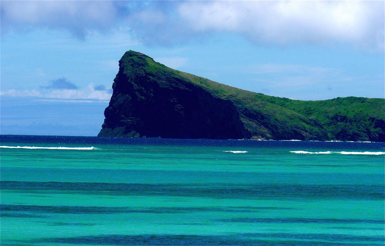 Coin de Mire Sea Tranquil Scene Tranquility Water Sky Blue Beach Beauty In Nature Solitude Majestic Remote Mauritiusisland